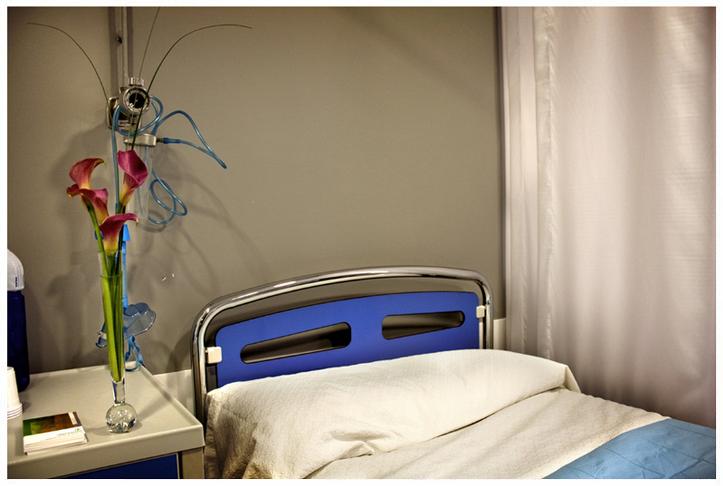 habitación en la clínica de Oviedo